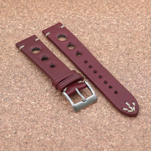 RALLY 2.0 Wine Red StrapoLEATHER 20/22mm