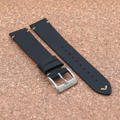VINTAGE 2.0 Expresso Black StrapoLEATHER 20/22mm