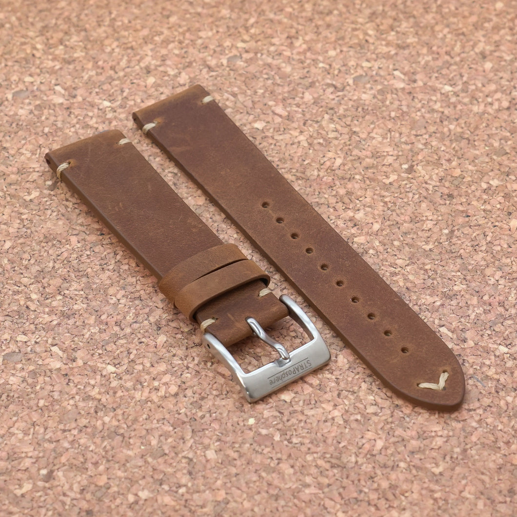 VINTAGE 2.0 Russet Brown StrapoLEATHER 20/22mm