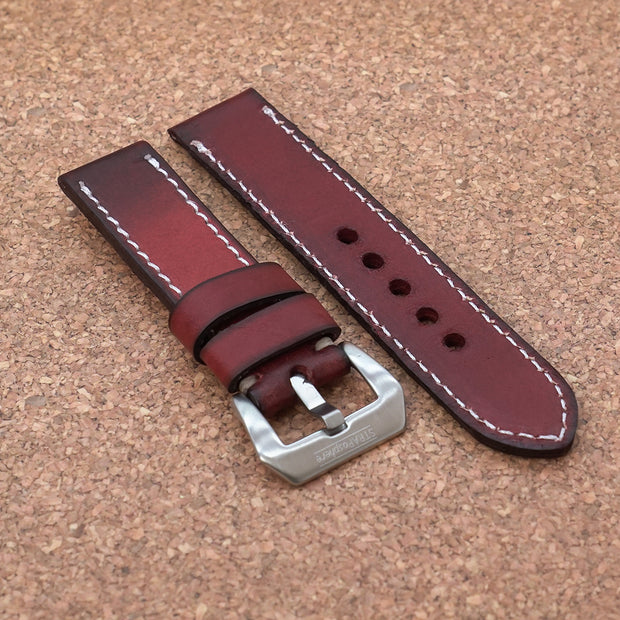 StrapoLEATHER RUGGED Cherry Red