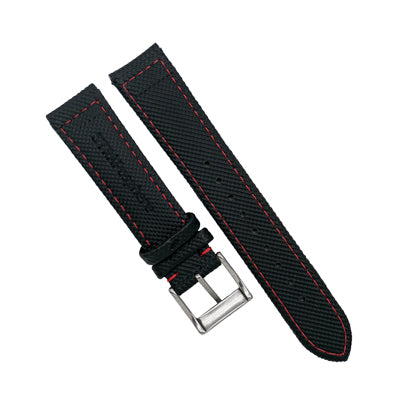 StrapoSAIL Black with Red stitching