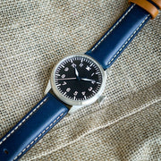 StrapoLEATHER ITALIAN 3.0 Admiral Blue