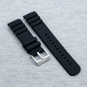 Raven Black The SKX StrapoFIT Curved End Silicone