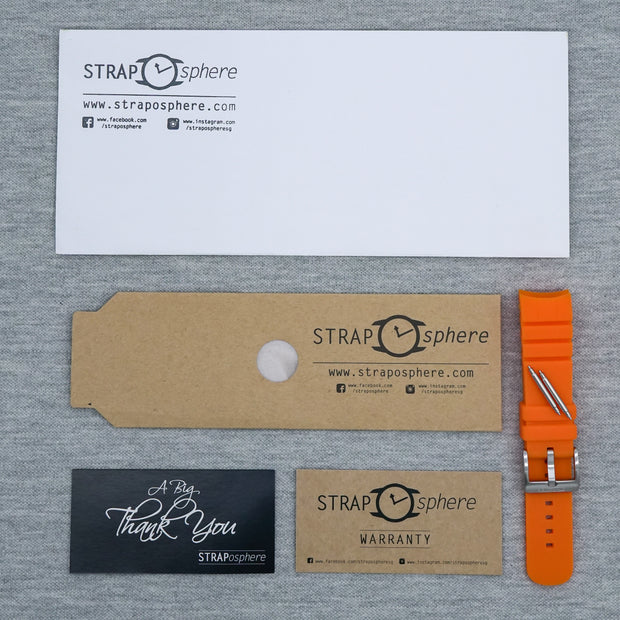 Tangerine Orange The SKX StrapoFIT Curved End Silicone
