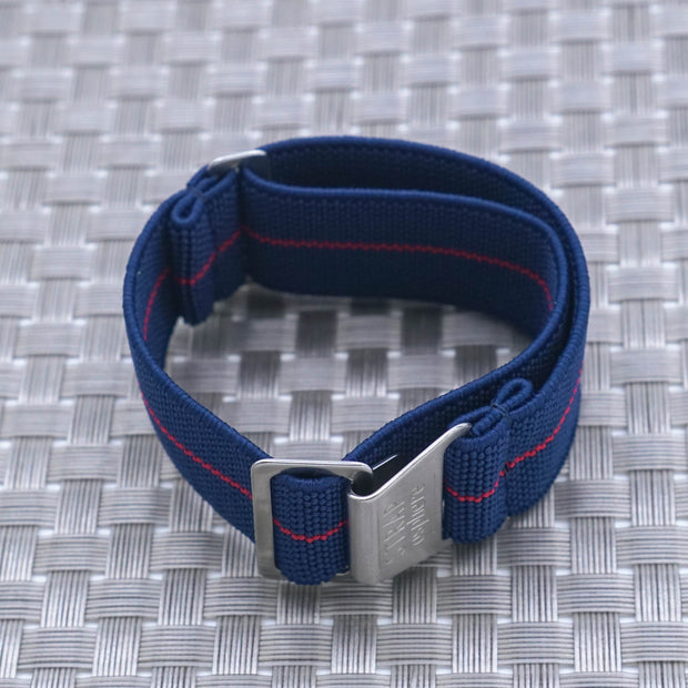 StrapoMARINE Navy with Red Pin Stripe