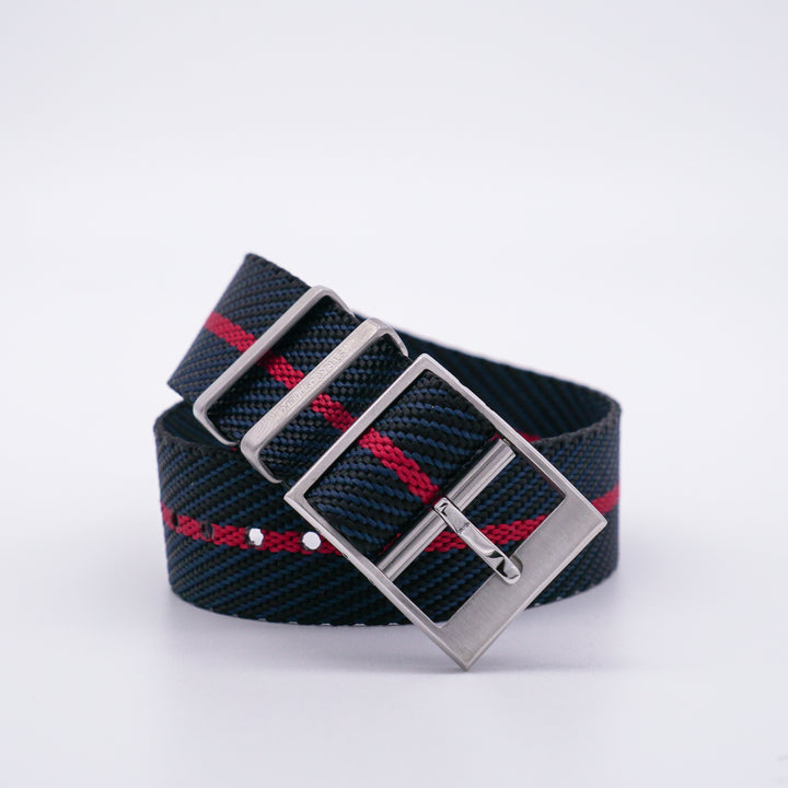 Black/Crimson StrapoBELT 2.0 Adjustable Nato 20/22mm