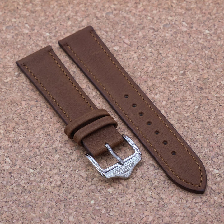 CLASSIC 2.0 Pecan Brown StrapoLEATHER 20/22mm