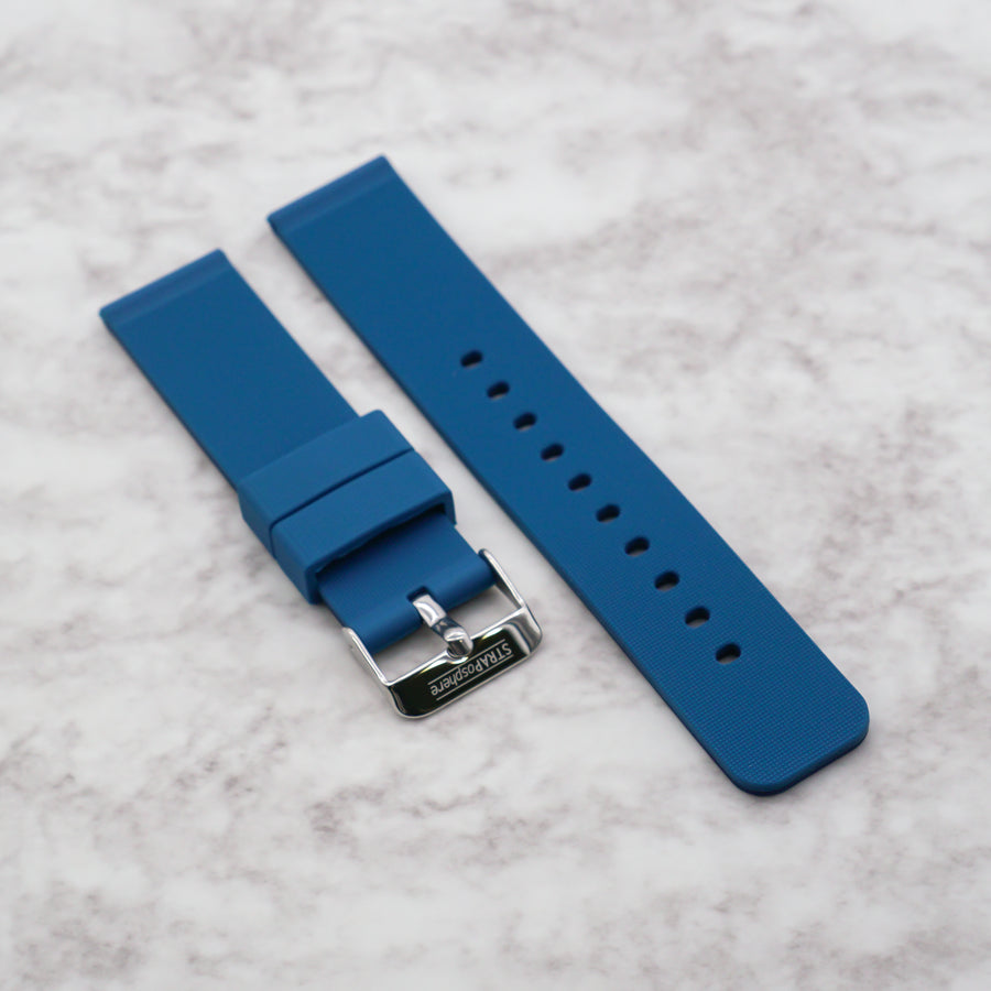 Navy/Sky The StrapoDUO Reversible Silicone 20/22mm