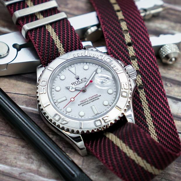 StrapoBELT 2.0 Adjustable Nato Burgundy/Gobi Sand