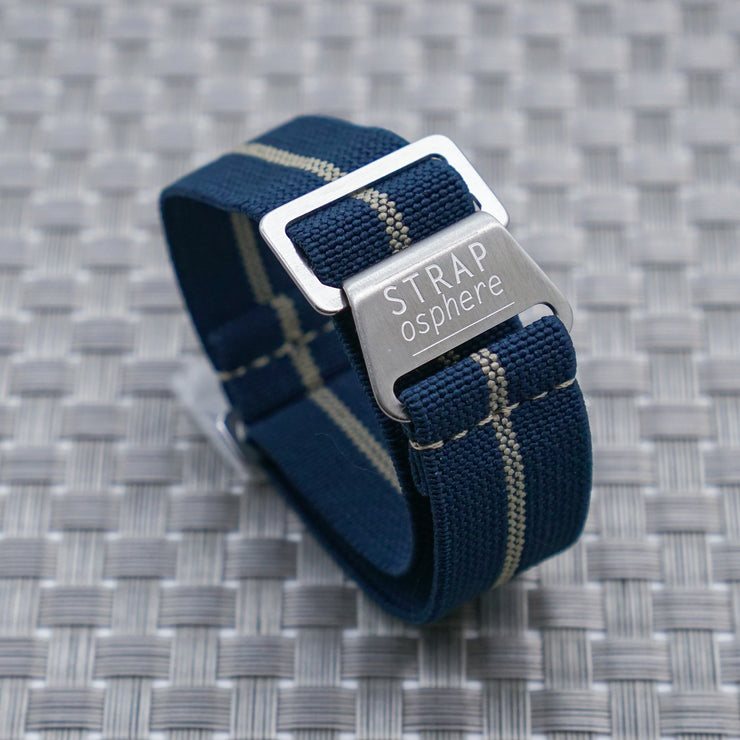 StrapoMARINE Navy with Sand Pin Stripe