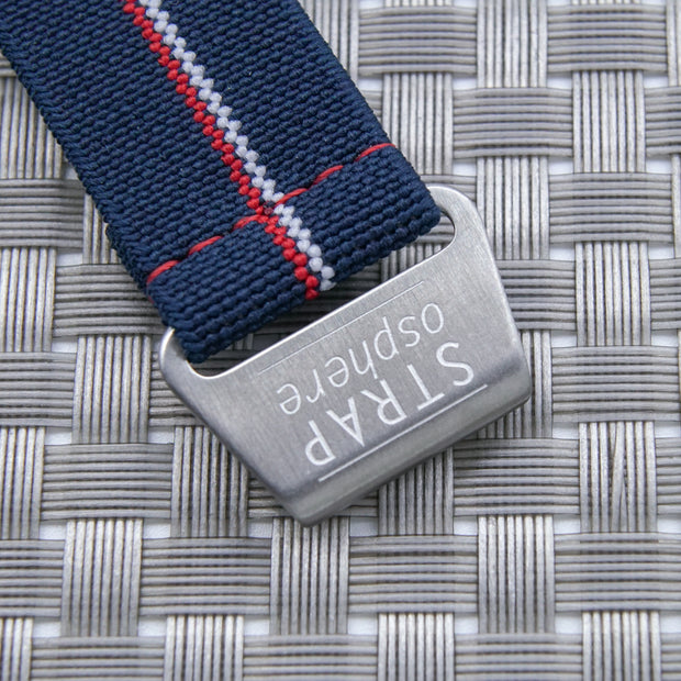 StrapoMARINE Navy with Red & White Pin Stripe
