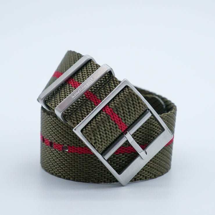 StrapoBELT 2.0 Adjustable Nato Olive/Crimson