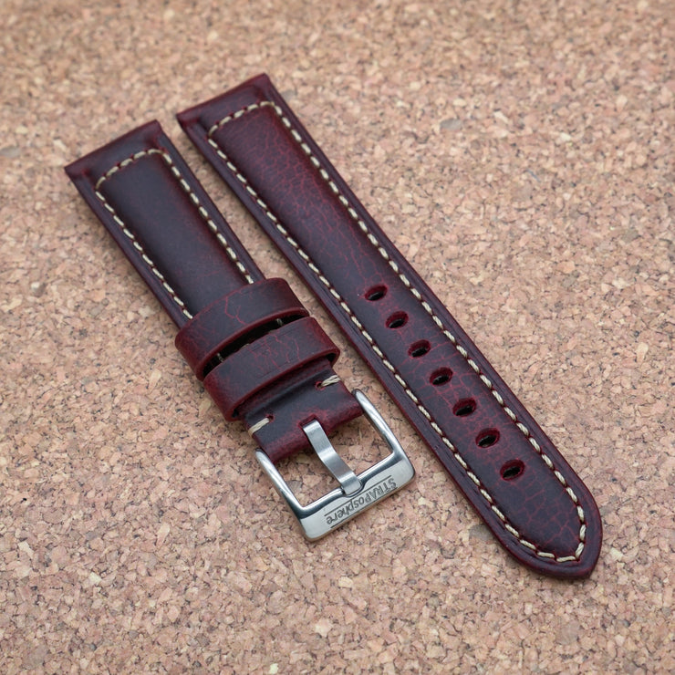 StrapoLEATHER ITALIAN Mahagony Red