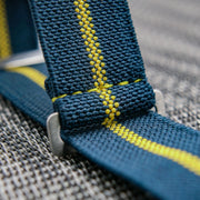 StrapoMARINE Navy with Neon Yellow Pin Stripe