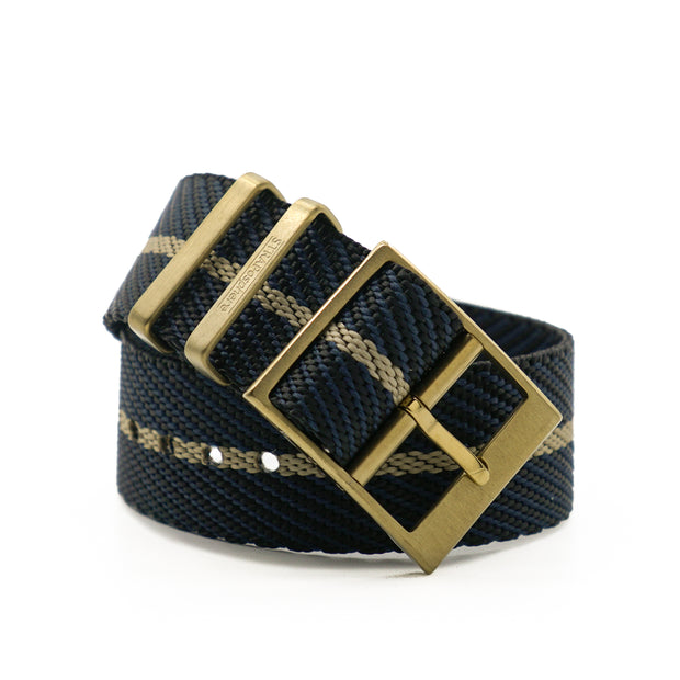 Matte Gold StrapoBELT 2.0 Adjustable Nato Black/Gobi Sand
