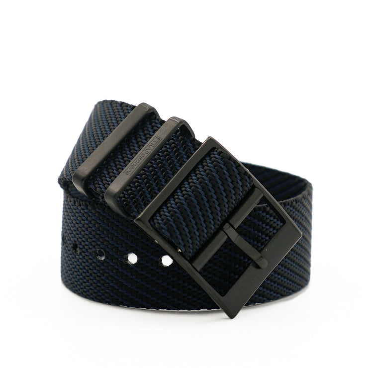PVD Black StrapoBELT 2.0 Adjustable Nato Bluish Black