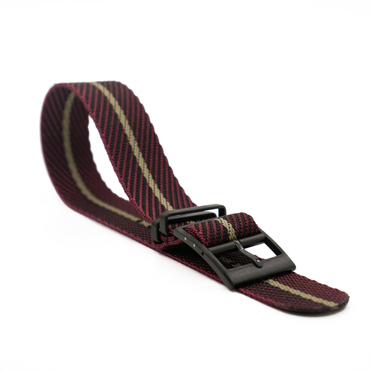PVD Black StrapoBELT 2.0 Adjustable Nato Burgundy/Gobi Sand