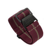 PVD Black StrapoMARINE Burgundy with Sand Pin Stripe