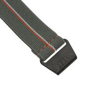 PVD Black StrapoMARINE Grey with Orange & White Pin Stripe