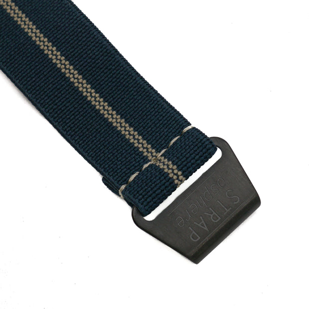 PVD Black StrapoMARINE Navy with Sand Pin Stripe
