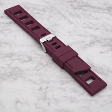 Burgundy Red StrapISO Silicone 22mm