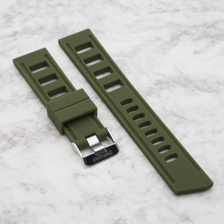 Olive Green StrapISO Silicone 20/22mm