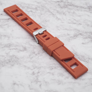 Orange StrapISO Silicone 22mm
