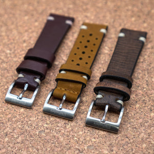 DISTRESSED Expresso Brown StrapoLEATHER 20/22mm