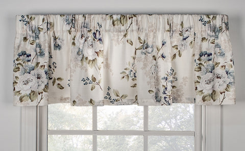 Chatsworth Floral Print Tailored Valance Window Curtain