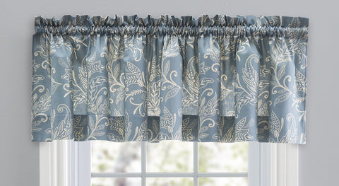 Lexington Leaf Print Tailored Valance Window Curtain
