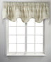 Bartlett Plaid Print 100% Cotton Twill Lined Scallop Valance Window Curtain