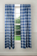 Bartlett Plaid Print 100% Cotton Twill Tailored Panels Window Curtains with Tie Backs