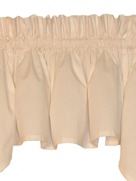 Martha Solid Color Tailored Filler Valance Window Curtain