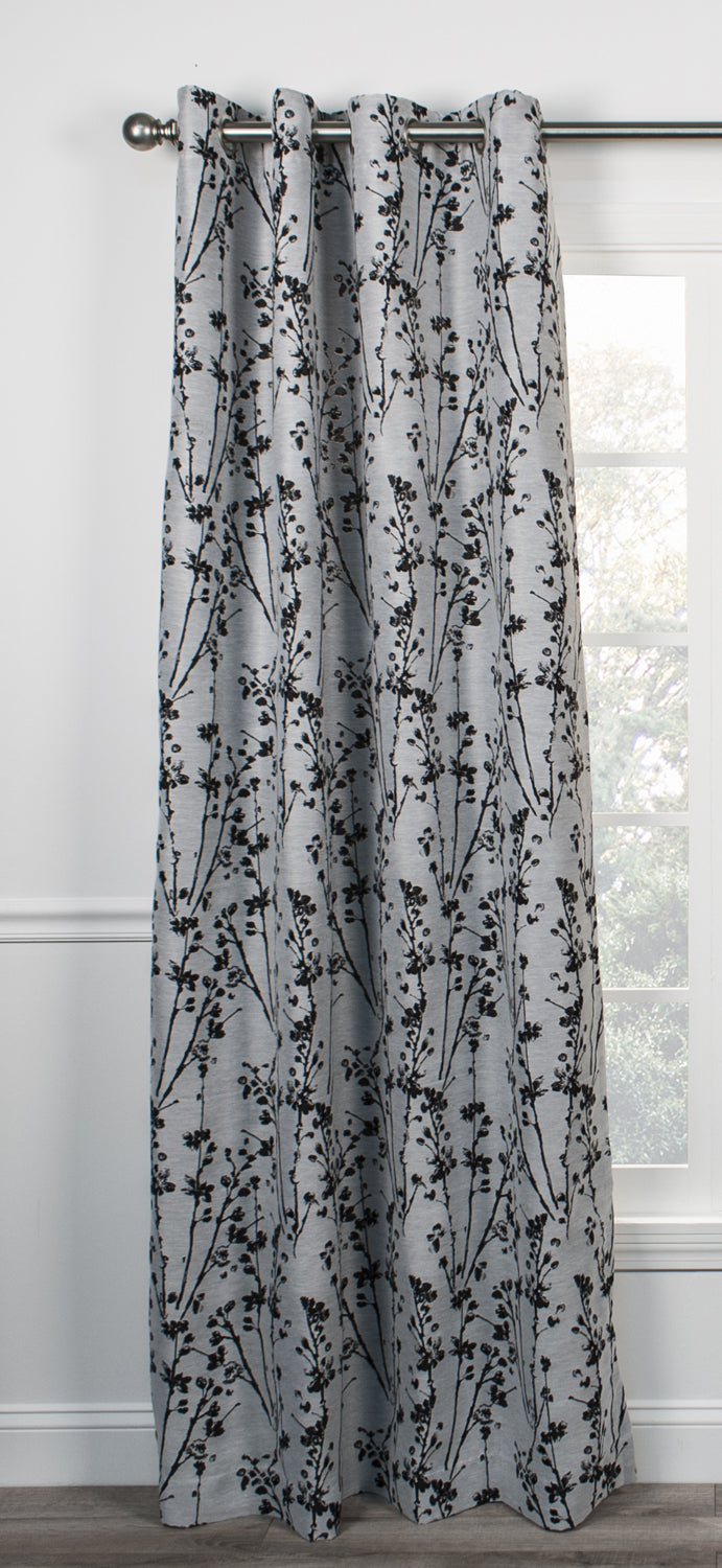 Meadow Open Floral Print Lined Scallop Valance Window
