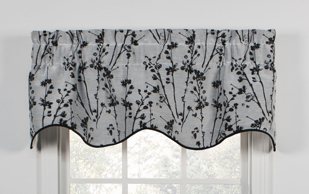Favorite Meadow Open Floral Print Lined Tie Up Valance Window Curtain  XJ43