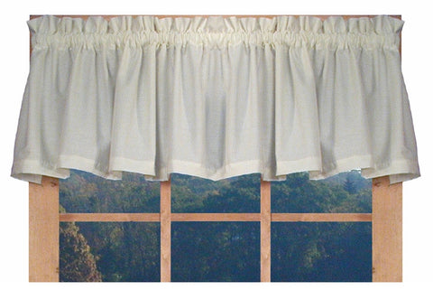 Kerry Solid Color Tailored Valance Window Curtain