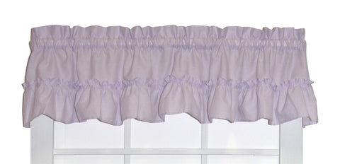 Brooke Solid Color Ruffled Straight Valance Window Curtain
