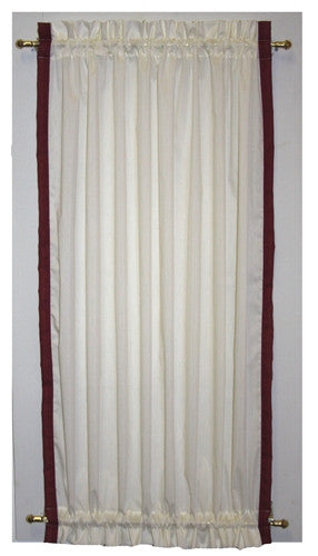 ... Roslyn Country Door Panel Curtain With Banded Edge And Tie Back ...