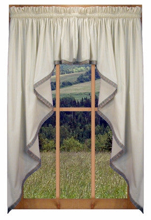 curtains fishtail and swags curtai valances swag country