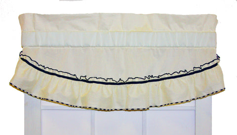 Jenny Country Ruffled Filler Valance Window Curtain