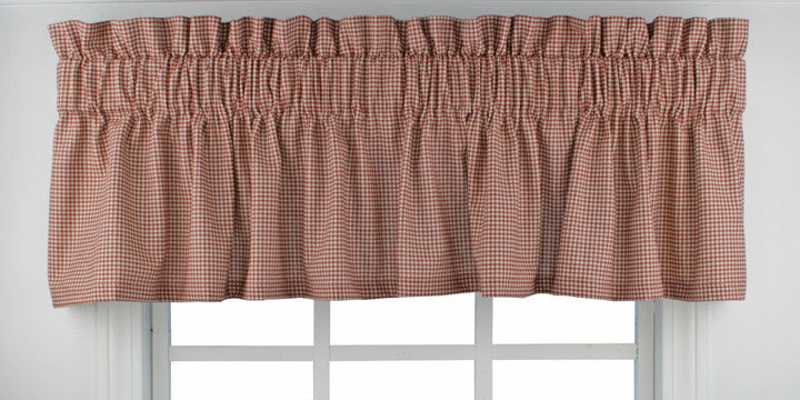 Logan Country Gingham Print Fabric Shower Curtain   Window Toppers