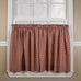 Country Gingham Print 3 Piece Tailored Swags & Filler Valance Window Curtains Set