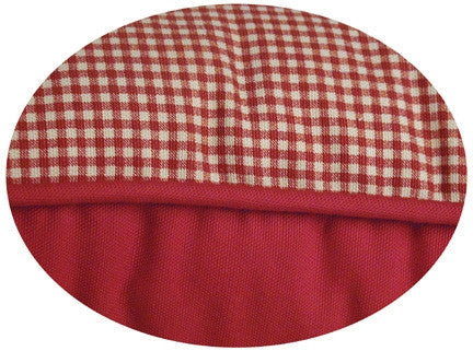 Logan Reversible Toss Pillow with Solid Color & Gingham Print