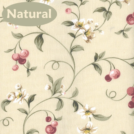 ... Cherry Blossoms Country Print Ruffled Priscilla Window Curtains With  Bow Tie Backs ...