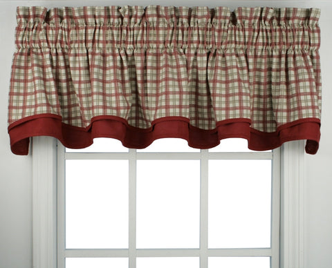 Bristol Plaid Print Bradford Valance Window Curtain