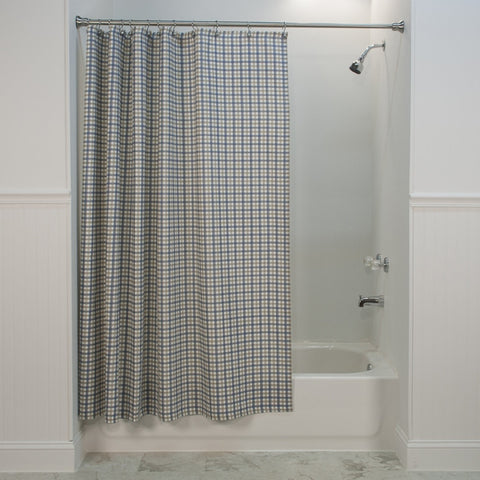 Bristol Plaid Print Fabric Shower Curtain