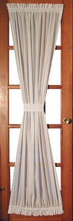 Kerry Solid Color Door Panel Curtain with Tie Back