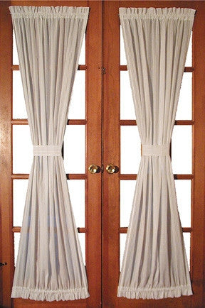 Superior ... Kerry Solid Color Door Panel Curtain With Tie Back