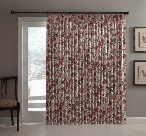 Cornwall Thermal Insulated Pinch Pleated Patio Door Drapery Panel