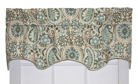 Paisley Prism Lined Duchess Filler Valance Window Curtain